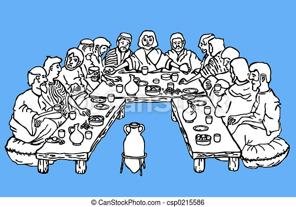 Last supper - csp0215586