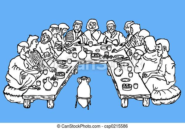 Last supper - csp0215586