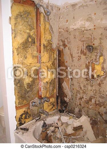 stock foto von badezimmer renovierung ausstellung der form hinten csp0216324 suchen. Black Bedroom Furniture Sets. Home Design Ideas