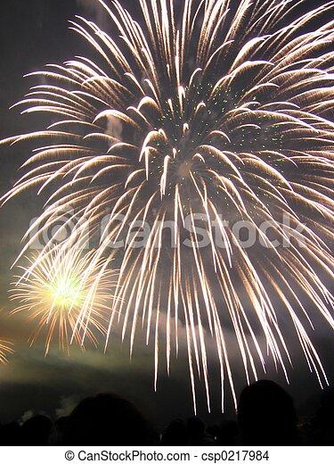 fireworks burst - csp0217984