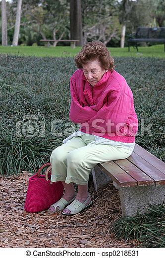 Senior Woman Cold & Sad - csp0218531