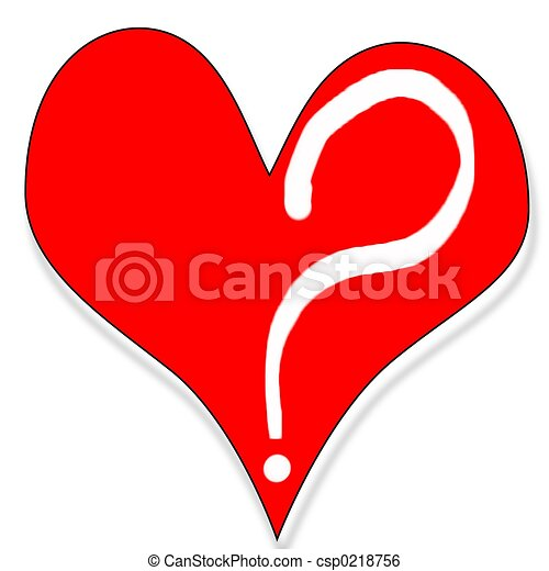 Stock Illustration of Do you love me - Heart with question mark ...
