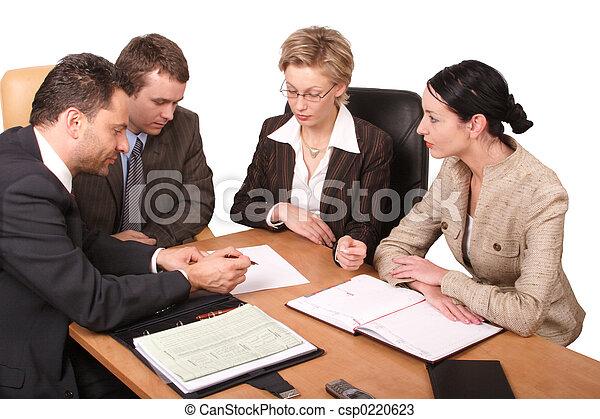 reunión, empresa / negocio - csp0220623
