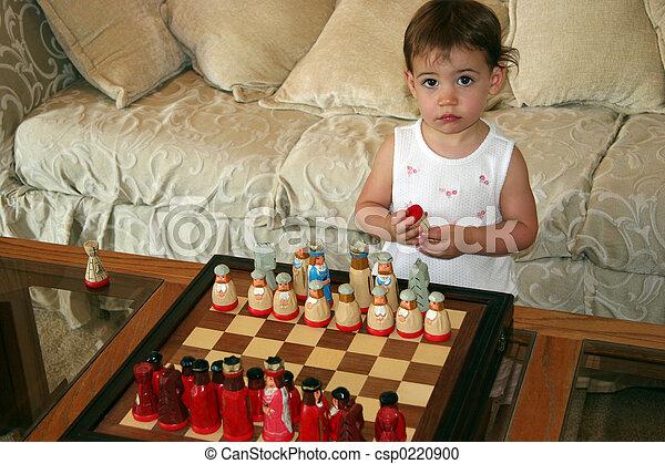 Baby Girl Chess