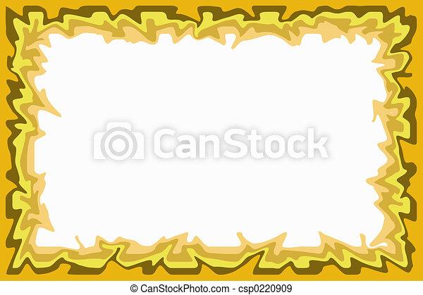Yellow brown border - csp0220909