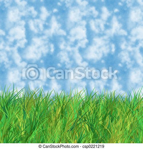 Grass and sky - csp0221219