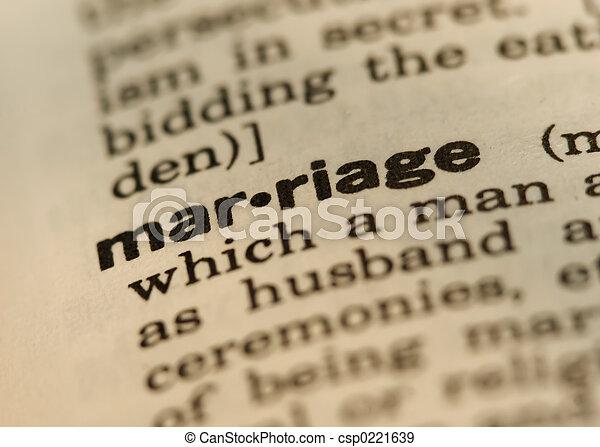 Marriage - csp0221639