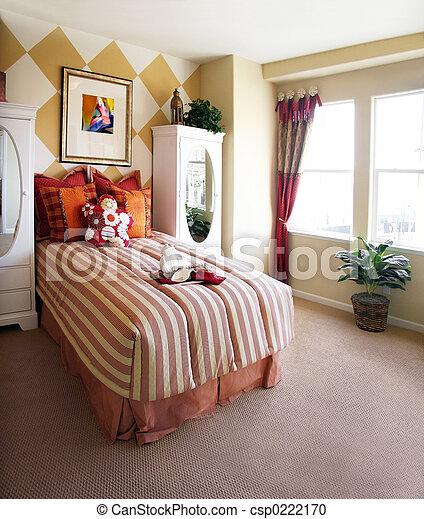 Girls bedroom - csp0222170