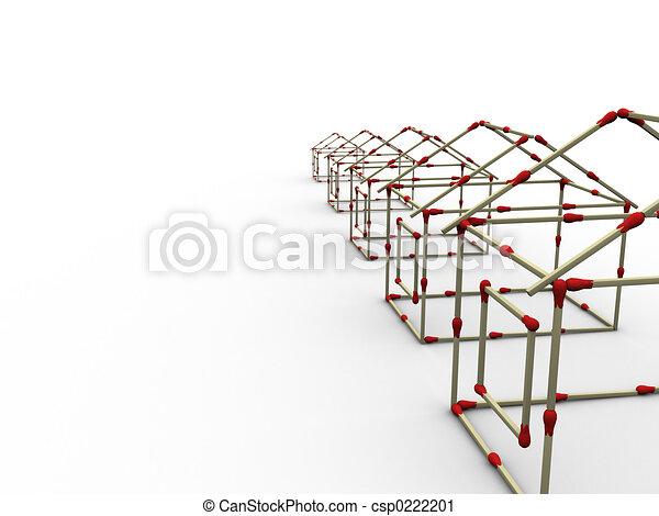 Matches houses row - csp0222201