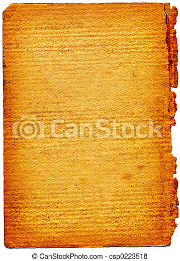 Old textured paper with tattered edge - csp0223518