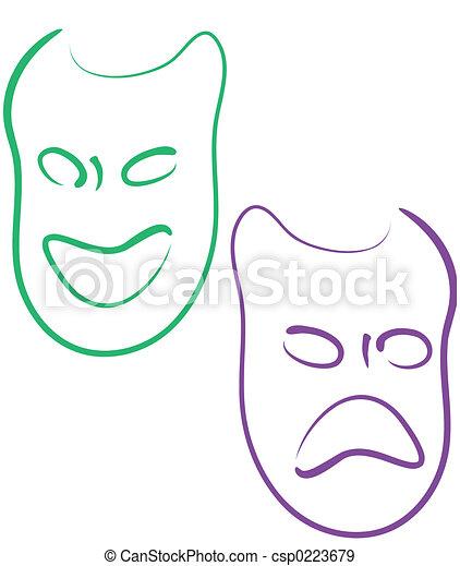 Mardi Gras masks - csp0223679