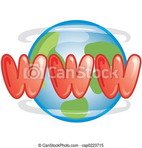 WWW icon - csp0223715