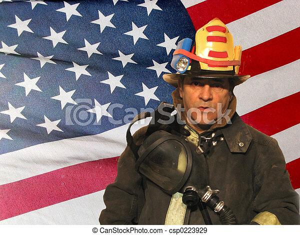 amerikanische, Feuerwehrmann - csp0223929