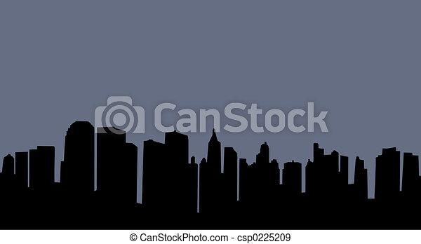 City skyline - csp0225209
