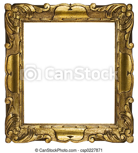 Picture Frame Gold - csp0227871