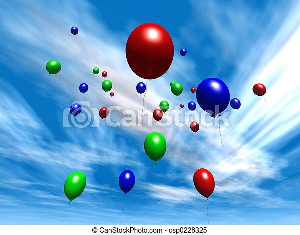 Balloons - Daytime S - csp0228325