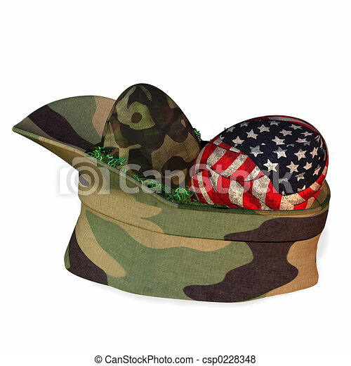 Military Easter Basket - csp0228348