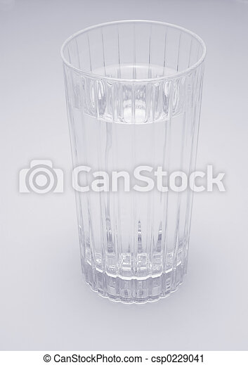 Glass of Water (blue tint - csp0229041