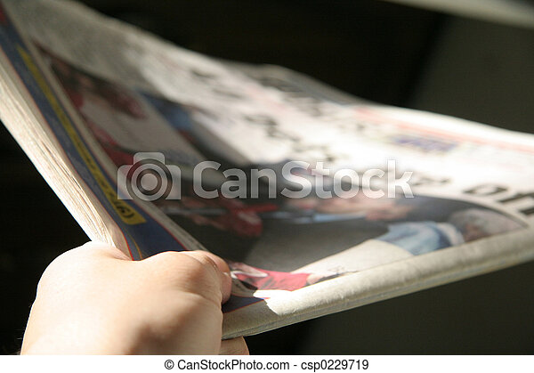 deliver newspaper - csp0229719