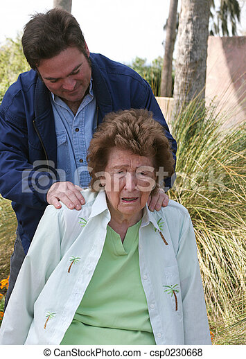Son Comforting Mother - csp0230668