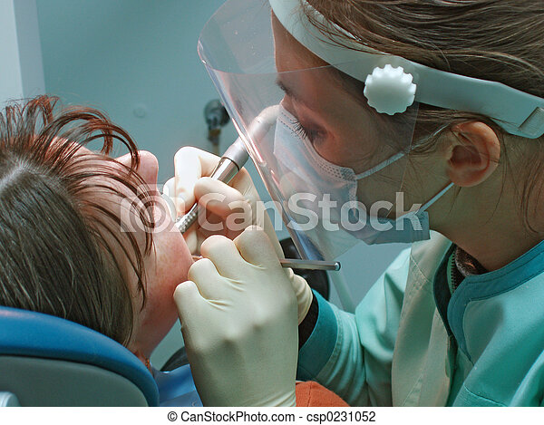 dentaire, chirurgie, bureau - csp0231052
