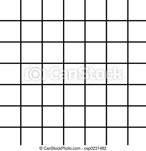 Large Black Grid on White - csp0231482