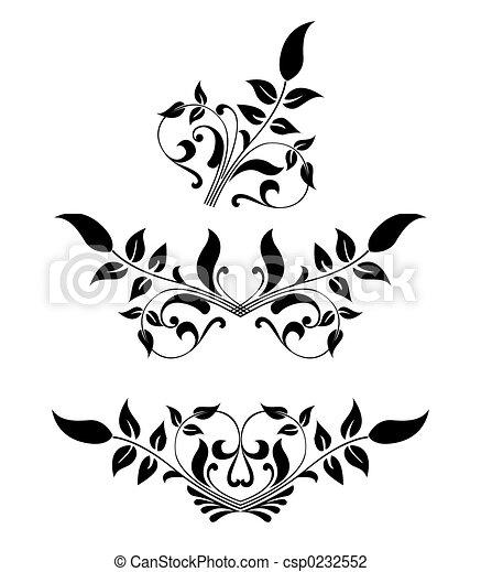 Scroll, cartouche, decor, vector illustration   - csp0232552