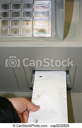 Dinheiro, depositar - csp0232826