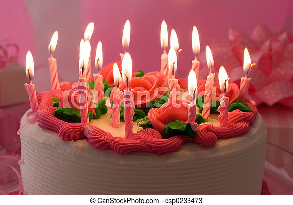 Stock Photos Of Bithday Cake Birthday Cake With Candles