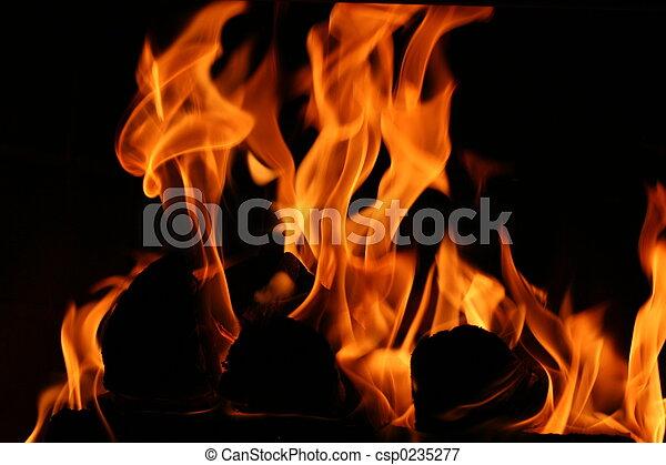 Cozy Fireplace - csp0235277