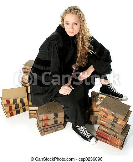 Judge Books Law - csp0236096