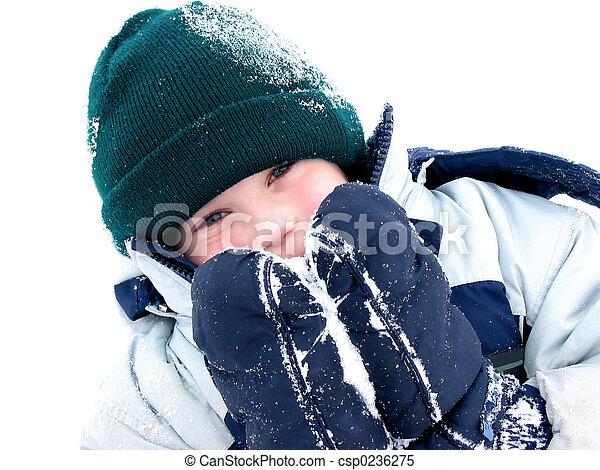 Winter boy fun - csp0236275