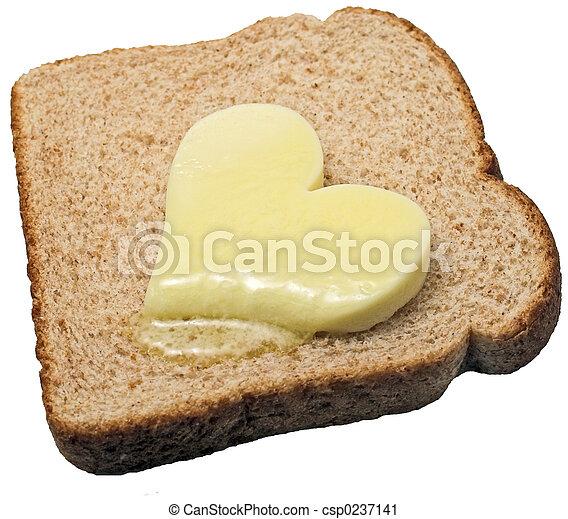 Melting butter heart - csp0237141