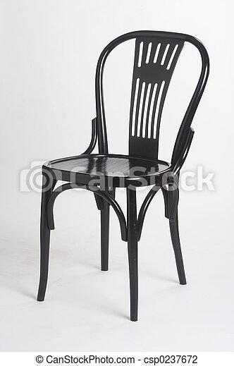 stock foto von schwarzer ii stuhl schwarz stuhl. Black Bedroom Furniture Sets. Home Design Ideas