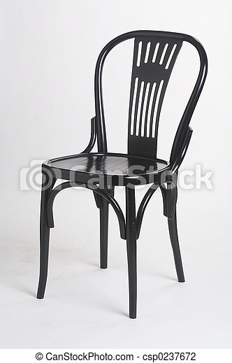 black chair II - schwarzer Stuhl II - csp0237672