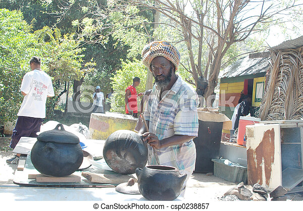 rasta man preparing food 320 - csp0238857