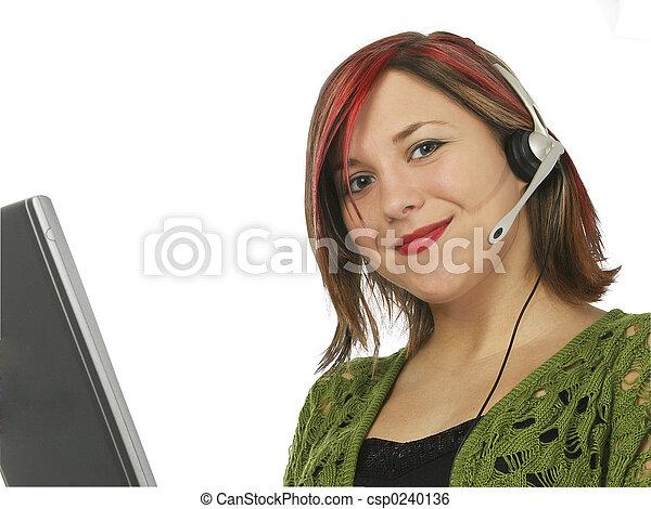 Customer Rep Smile - csp0240136
