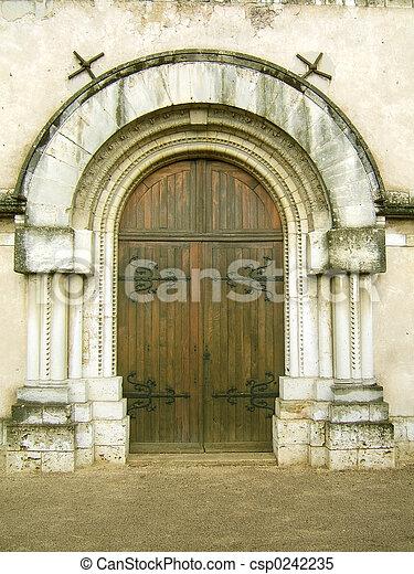Church entrance - csp0242235