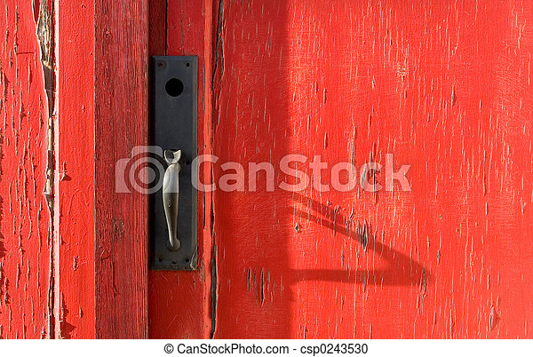 Behind the Red Door - csp0243530