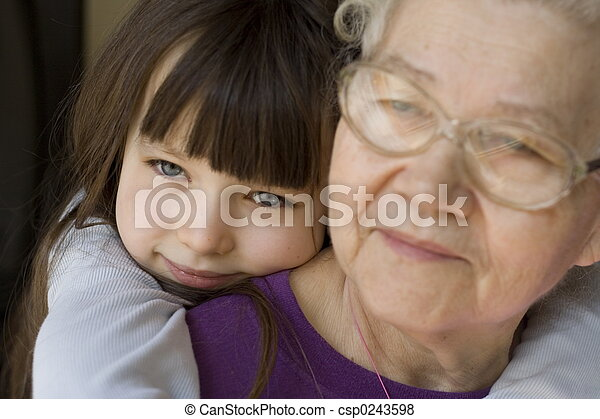 happy with grandma - csp0243598