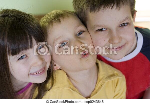 smiling kids - csp0243646