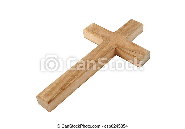 Wood Cross - csp0245354