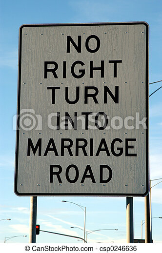Marriage Road Sign - csp0246636