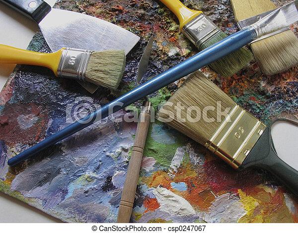 芸術, 道具 - csp0247067