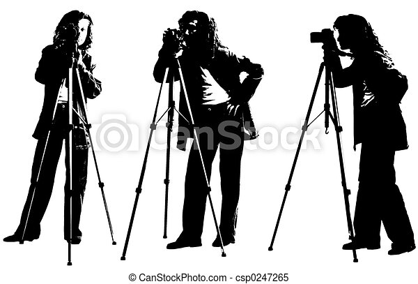 Female Photographer Clipart