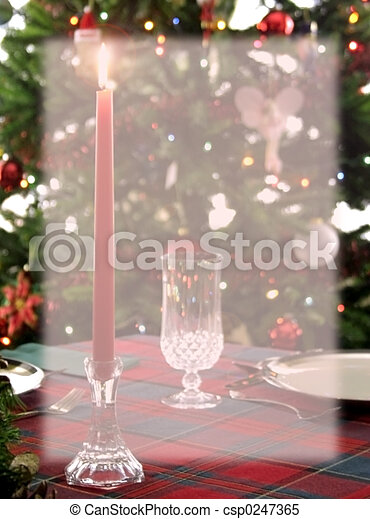 Christmas Dinner Background Stationery - csp0247365