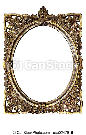 Oval Picture Frame - csp0247916