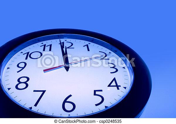 Blue Clock - csp0248535