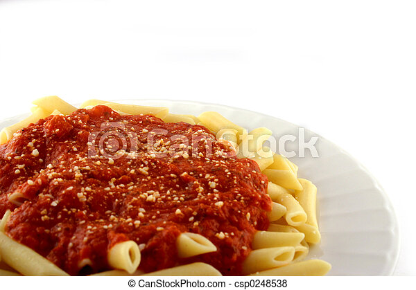Cooked Pasta with Sauce - csp0248538