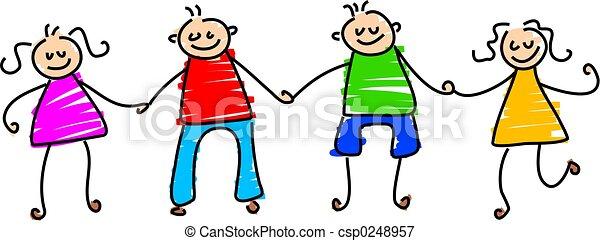 happy friends - csp0248957
